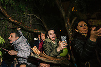 POMIGLIANO D'ARCO, ITALY - 6 MARCH 2018: Fellow citizens and supporters of Luigi Di Maio, leader of the Five Star Movement who returned to his his hometown to celebrate the movement's victory in the 2018 Italian General Elections, photograph and greet the leader at the end of the celebration in Pomigliano D'Arco, Italy, on March 6th 2018.<br /> <br /> The Five-Star Movement, became the first party in Italy, with 33 percent of the vote.