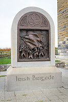 Memorial to the Irish Brigade at Bloody Lane, Antietam National Battlefield, Sharpsburg, Maryland, USA