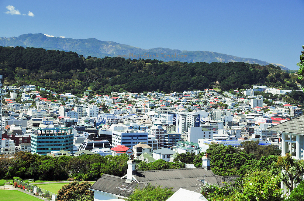 New Zealand, North Island, Wellington cityscape