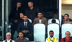 Juventus' Cristiano Ronaldo watches from the stands