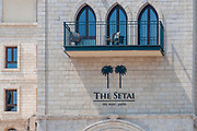 The Setai Tel Aviv housed in a meticulously restored Ottoman-era building (The local Prison) overlooking Jaffa's ancient port and the Mediterranean coastline.