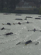 London, Great Britain, Crews moving up the River to marshal for the start of the 2002 Head of the River Race Championship Course Chiswick [Mortlake] to Putney. River Thames. Saturday, [Mandatory Credit. Peter SPURRIER/Intersport Images. 20020323. Head of the River Race, London. UK.