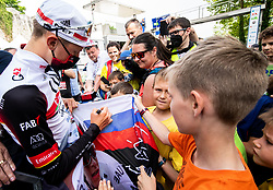 Tadej POGACAR of UAE TEAM EMIRATES with fans during 2nd Stage of 27th Tour of Slovenia 2021 cycling race between Zalec and Celje (147 km), on June 10, 2021 in Slovenia. Photo by Vid Ponikvar / Sportida