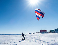 My fisrt step paraskiing. Photo by Andreanne Lussier.