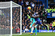 Mame Biram Diouf of Stoke City (18) goes close to scoring but puts it over the crossbar. Barclays Premier league match, Chelsea v Stoke city at Stamford Bridge in London on Saturday 5th March 2016.<br /> pic by John Patrick Fletcher, Andrew Orchard sports photography.