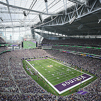 MINNEAPOLIS, MN - AUGUST 28: General stadium view of the Minnesota Vikings against the San Diego Chargers at US Bank stadium on August 28, 2016 in Minneapolis, Minnesota. (Photo by Adam Bettcher/Getty Images)