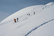 Heli-skiing & boarding with Canadian Mountain Holidays (CMH), Bugaboos, British Columbia, Canada