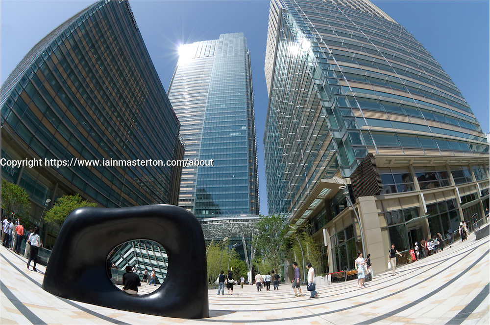 Wide angle view of new luxury Tokyo Midtown property development in Roppongi district of Tokyo Japan