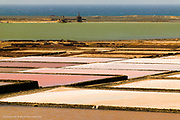Huge colourful salt pans on the West coast of Lanzarote