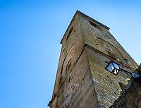 CIVITA DI BAGNOREGIO ITALY - CIRCA MAY 2015: Old tower in Civita di Bagnoregio