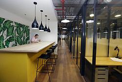 June 1, 2018 - Prague, Czech Republic - Work Lounge, shared office space in Prague, the First Cowork Open House in Czech Republic, Friday, June 1st, 2018. (Credit Image: © Michaela Rihova/CTK via ZUMA Press)