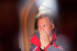 14.05.2013, Tauernhaus, Matrei i.O., AUT, Felbertauernstrasse nach Hangrutsch gesperrt, im Bild Mag. Karl Poppeller, (Vorstand der Felbertauern AG). In der Nacht von 13. auf 14. Mai kam es auf der Felbertauernstrasse auf Hohe der Schildalmgalerie zu einen Hangrutsch bzw. Felssturz auf einer Laenge von von ca. 100 Metern. Die Strasse ist fuer den gesamten Verkehr bis auf weiteres gesperrt. Es wird vermutet das ein KFZ unter den Schuttmassen verschuettet ist. EXPA Pictures © 2013, PhotoCredit: EXPA/ Juergen Feichter