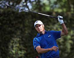 April 6, 2018 - Augusta, GA, USA - Jordan Spieth reacts to a poor drive on 2 during the second round of the Masters at Augusta National Golf Club on Friday, April 6, 2018, in Augusta, Ga. (Credit Image: © Jason Getz/TNS via ZUMA Wire)