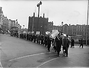Gaeltacht protest for Harry Corduff in Mountyjoy .25/04/1957 ..Ceathrú Thaidhg  is a Gaeltacht village and townland on the Dún Chaocháin peninsula in northwestern County Mayo, Ireland. It is within Kilcommon parish in the barony of Erris. Carrowteige is a relatively small townland with an acreage of just 403 acres...In the 1950s the roads through Dún Chaocháin were in terrible condition. Having failed to draw the County Council's attention to the matter a Kilcommon man, Harry Corduff, national schoolteacher refused to pay his road taxes. He was imprisoned in Mountjoy Jail for a week. Public support for his cause was great and promoted many protests of support..