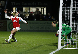 February 7, 2019 - London, England, United Kingdom - L-R Leah Williamson of Arsenal  and Sari van Veenendaal of Arsenal .during FA Continental Tyres Cup Semi-Final match between Arsenal and Manchester United Women FC at Boredom Wood on 7 February 2019 in Borehamwood, England, UK. (Credit Image: © Action Foto Sport/NurPhoto via ZUMA Press)
