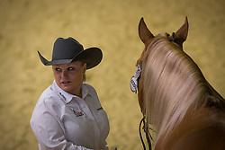 Mandy Mc Cutcheon, (USA), Yellow Jersey - Horse Inspection Reining  - Alltech FEI World Equestrian Games™ 2014 - Normandy, France.<br /> © Hippo Foto Team - Dirk Caremans<br /> 25/06/14