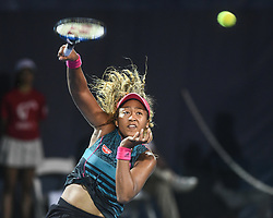 August 2, 2018 - Washington, D.C, U.S - NAOMI OSAKA hits an overhead during her 3rd round match at the Citi Open at the Rock Creek Park Tennis Center in Washington, D.C. (Credit Image: © Kyle Gustafson via ZUMA Wire)