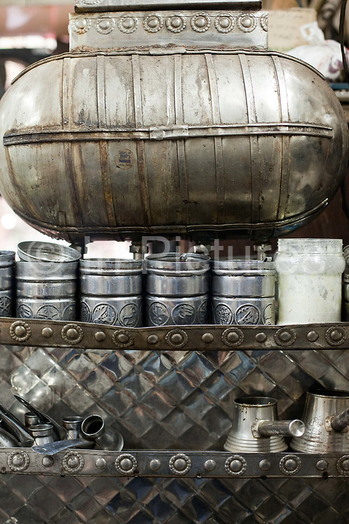 The water urn in the Zahrat al-Bustan cafe, Cairo, Egypt