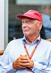 21.05.2019, AUT, ARCHIV, Niki Lauda am 20. Mai im Alter von 70 Jahren verstorben, im Bild Niki Lauda (AUT) Mercedes AMG Petronas F1 Team, 09.07.2017, Red Bull Ring, Spielberg // ARCHIVE, Niki Lauda passed away on 20 May at the age of 70. Mercedes AMG F1 Non- Executive Chairman Niki Lauda (AUT) during the Austrian FIA Formula One Grand Prix at the Red Bull Ring in Spielberg, Austria on 2017/07/09. EXPA Pictures © 2019, PhotoCredit: EXPA/ JFK