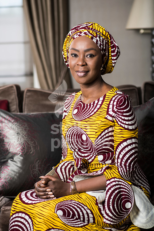 Healthcare philanthropist and the Founder-President of Wellbeing Foundation Africa, Toyin Ojora-Saraki pictured in her London home.<br /> Picture by Daniel Hambury/Stella Pictures Ltd 07813022858<br /> 10/04/2017