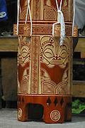 Drum, Omoa village, Fatu Hiva, Marquesas, French Polynesia<br />