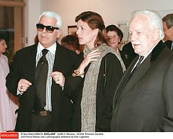 © Nice Matin/ABACA. EXCLUSIF. 12280-2. Monaco, 19/3/99. Princess Caroline and Prince Rainier visit a photographs exhibition by Karl Lagerfeld.