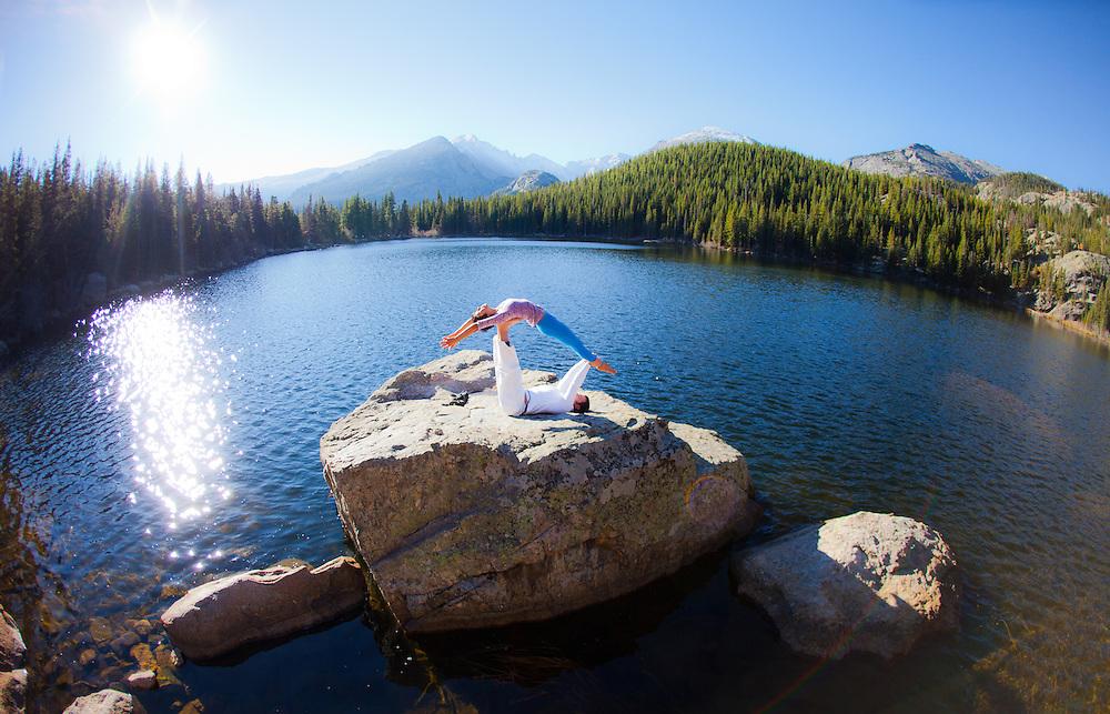Yuki Tsuji-Hoening & Paul Robinson at Bear Lake, Estes Park, COLORADO