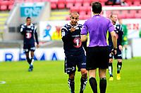Fotball , Adeccoligaen , 1. Divisjon , lørdag 1. juli 2013 , Fredrikstad Stadion<br /> Fredrikstad FK - Kristiandsund BK<br /> Mahmoud El Haj kjefter på dommeren<br /> Foto: Sjur Stølen