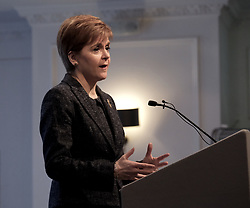 EU citizens vital to Scotland, 20 January 2020<br /> <br /> First Minister Nicola Sturgeon was in Edinburgh today to celebrate the positive impact of EU citizens and to announce further funding for the Stay in Scotland campaign.<br /> <br /> Following her welcoming remarks, the First Minister engaged with a wide range of EU citizens and Visited advice stalls to meet service providers - such as Citizens Advice Scotland and Shelter Scotland - who offer practical advice, support and information to EU citizens.<br /> <br /> Pictured: First Minister Nicola Sturgeon <br /> <br /> Alex Todd | Edinburgh Elite media