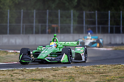 August 31, 2018 - Portland, Oregon, United Stated - SPENCER PIGOT (21) of the United States takes to the track to practice for the Portland International Raceway at Portland International Raceway in Portland, Oregon. (Credit Image: © Justin R. Noe Asp Inc/ASP via ZUMA Wire)
