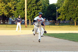 24 June 2016:  Nick Brunson during a  Midwest Collegiate League Baseball game between the Joliet Admirals and the Bloomington Bobcats at American Legion Field in O'Neil Park at Bloomington, Illinois