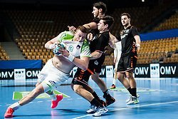 Blaz Blagotinsek of Slovenia during Men's EHF EURO 2022 Qualifiers between national teams Slovenia and Netherlands in Arena Zlatorog, Celje, Slovenia on 10. January, 2021. Photo by Grega Valancic