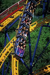 Stock photo of a roller coaster at AstroWorld in Houston Texas