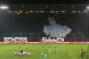 Fuusball: 2. Bundesliga, FC St. Pauli - Hamburger SV 2:0, Hamburg, 16.09.2019<br /> Choreographie: St. Pauli-Fans, Scheiss Bullen<br /> © Torsten Helmke