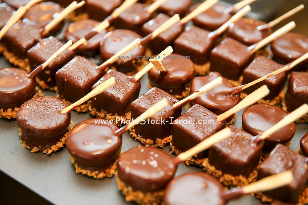 skewered chocolate bonbons