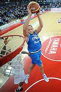 DESCRIZIONE : Pesaro Edison All Star Game 2012<br /> GIOCATORE : Marco Cusin<br /> CATEGORIA : special schiacciata tiro <br /> SQUADRA : Italia Nazionale Maschile<br /> EVENTO : All Star Game 2012<br /> GARA : Italia All Star Team<br /> DATA : 11/03/2012 <br /> SPORT : Pallacanestro<br /> AUTORE : Agenzia Ciamillo-Castoria/C.De Massis<br /> Galleria : FIP Nazionali 2012<br /> Fotonotizia : Pesaro Edison All Star Game 2012<br /> Predefinita :