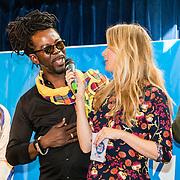 NLD/hoofddorp/20160923 - Kick-off' BZT Show + Méér Muziek in de Klas, Jetske van der Elzen in gesprek met Kenny B.
