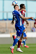 Bristol Rovers defender Max Ehmer (5) heads the ball away from a Ipswich cross during the EFL Sky Bet League 1 match between Bristol Rovers and Ipswich Town at the Memorial Stadium, Bristol, England on 19 September 2020.