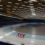 Winter Olympics, Vancouver, 2010.Polish athletes training at the Speed Skating venue at Richmond Oval in preparation for the Long Track Speed Skating event at the Winter Olympics. 8th February 2010. Photo Tim Clayton