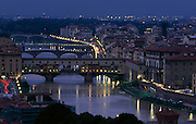 Panorama of Florence with the Old Bridge (Ponte Vecchio)