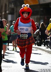 A competitor in fancy dress during the 2019 London Landmarks Half Marathon.