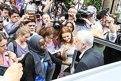 Jeremy Corbyn visited the Clement james Centre in North Kensington to talk to voluteers and survivors<br /><br />15 June 2017.<br /><br />Please byline: Vantagenews.com