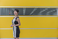CHINA / Shanghai /<br /> Shanghai / Jading : Volvo new headquarter PDM3 : Huang Xiping (Emily) portrayed at the testing area <br /> © Daniele Mattioli Shanghai China Corporate and Industrial Photographer for Volvo