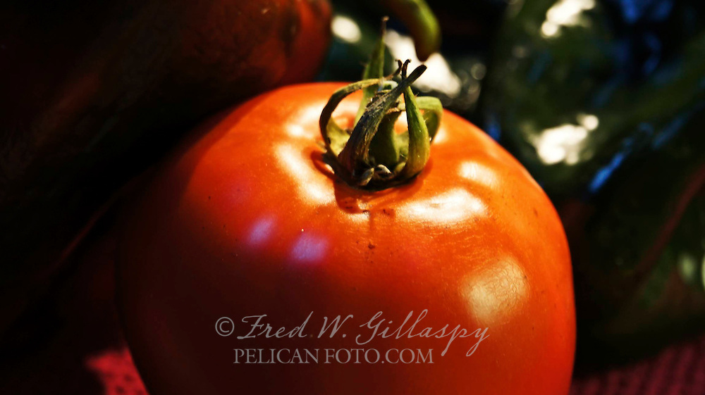 Tomato and Pasilla Peppers
