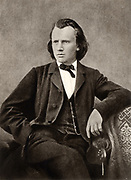 Johannes Brahms (1833-1897) German composer, c1866.  Halftone from a photograph.