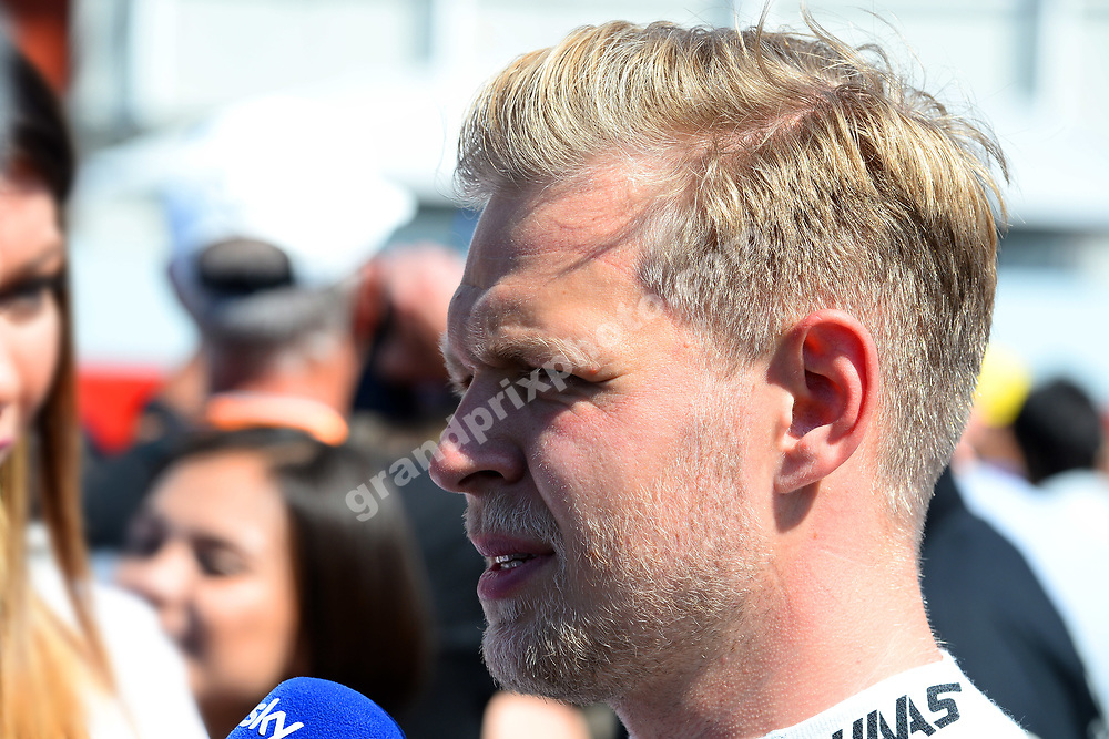 Kevin Magnussen (Haas-Ferrari) after qualifying for the 2019 Spanish Grand Prix at the Circuit de Barcelona-Catalunya. Photo: Grand Prix Photo
