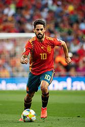 June 10, 2019 - Madrid, SPAIN - 190610 Isco of Spain during the UEFA Euro Qualifier football match between Spain and Sweden on June 10, 2019 in Madrid..Photo: Joel Marklund / BILDBYRÃ…N / kod JM / 87972 (Credit Image: © Joel Marklund/Bildbyran via ZUMA Press)