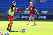 Nottingham Forest's James Garner (37) in action during the pre-match warm-up before the EFL Sky Bet Championship match between Cardiff City and Nottingham Forest at the Cardiff City Stadium, Cardiff, Wales on 2 April 2021.