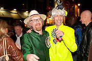 JES BENSTOCK; ANDREW LOGAN, Premiere of 'The British Guide to Showing Off' Jes Benstock's documantary on Andrew Logan's life and 12 Alternative Miss World's. Prince Charles cinema, Leicester Place. London and afterward's at Moonlighting, Greek St. London. 6 November 2011. <br /> <br />  , -DO NOT ARCHIVE-© Copyright Photograph by Dafydd Jones. 248 Clapham Rd. London SW9 0PZ. Tel 0207 820 0771. www.dafjones.com.