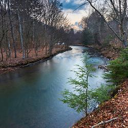 East Branch of the Clarion River, Johnsonburg, Pennsylvania. Spring.